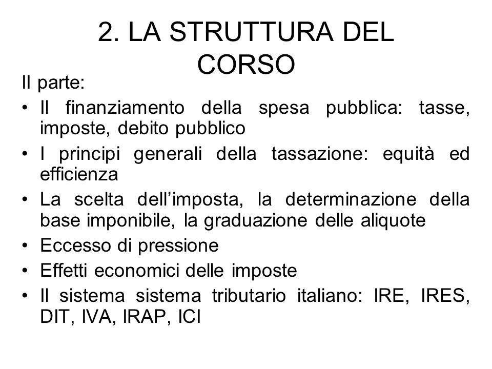 2. LA STRUTTURA DEL CORSO II parte: