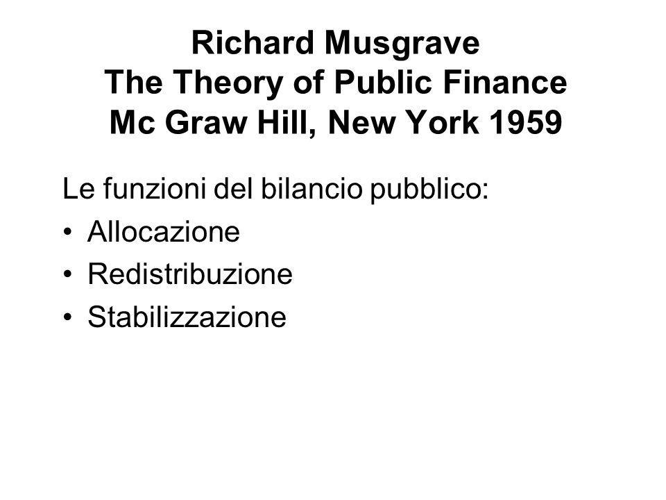 Richard Musgrave The Theory of Public Finance Mc Graw Hill, New York 1959