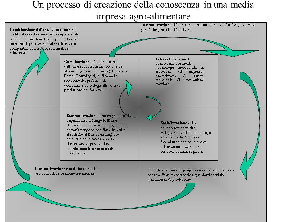 Un processo di creazione della conoscenza in una media impresa agro-alimentare