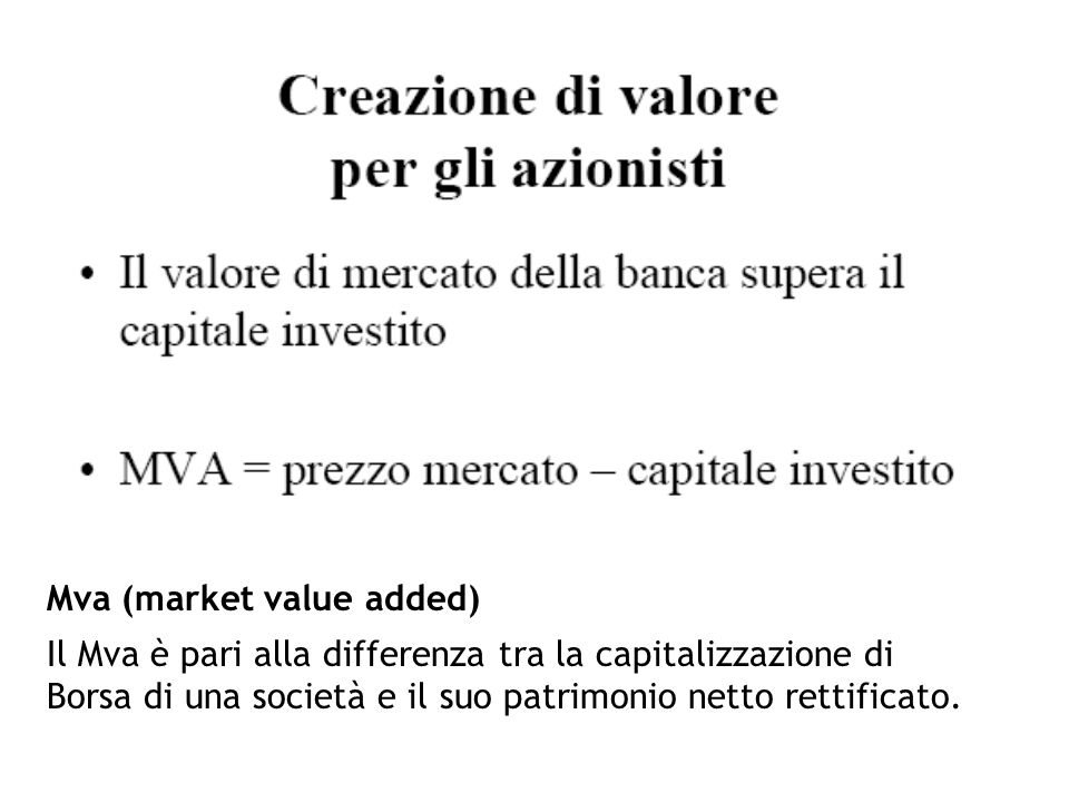 Mva (market value added)