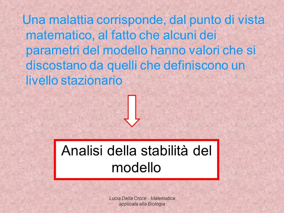Analisi della stabilità del modello