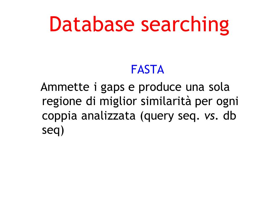 Database searching FASTA