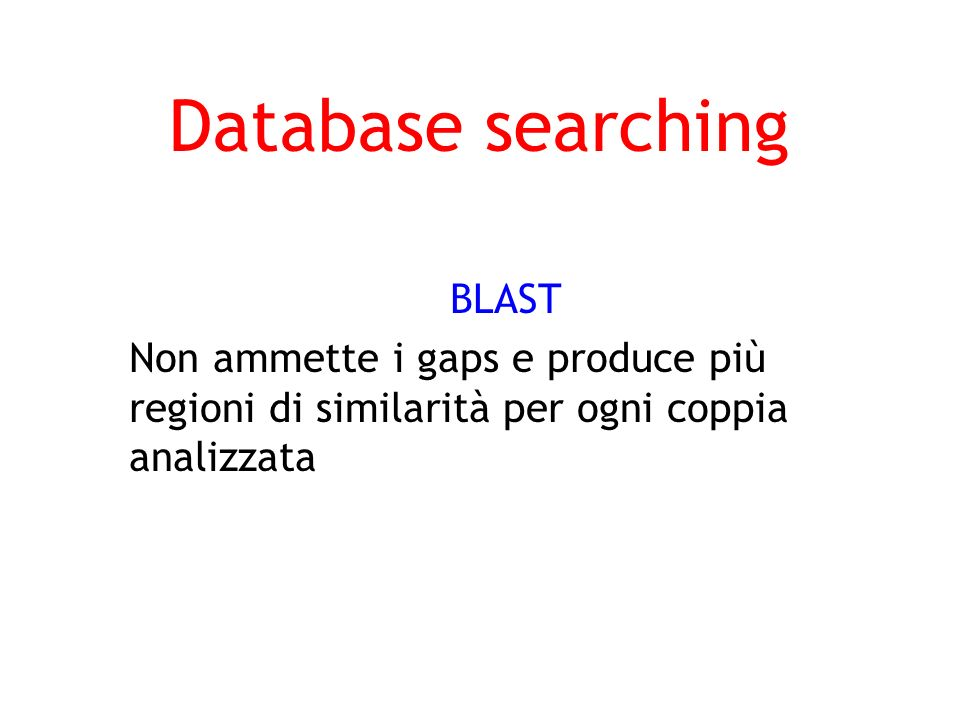 Database searching BLAST