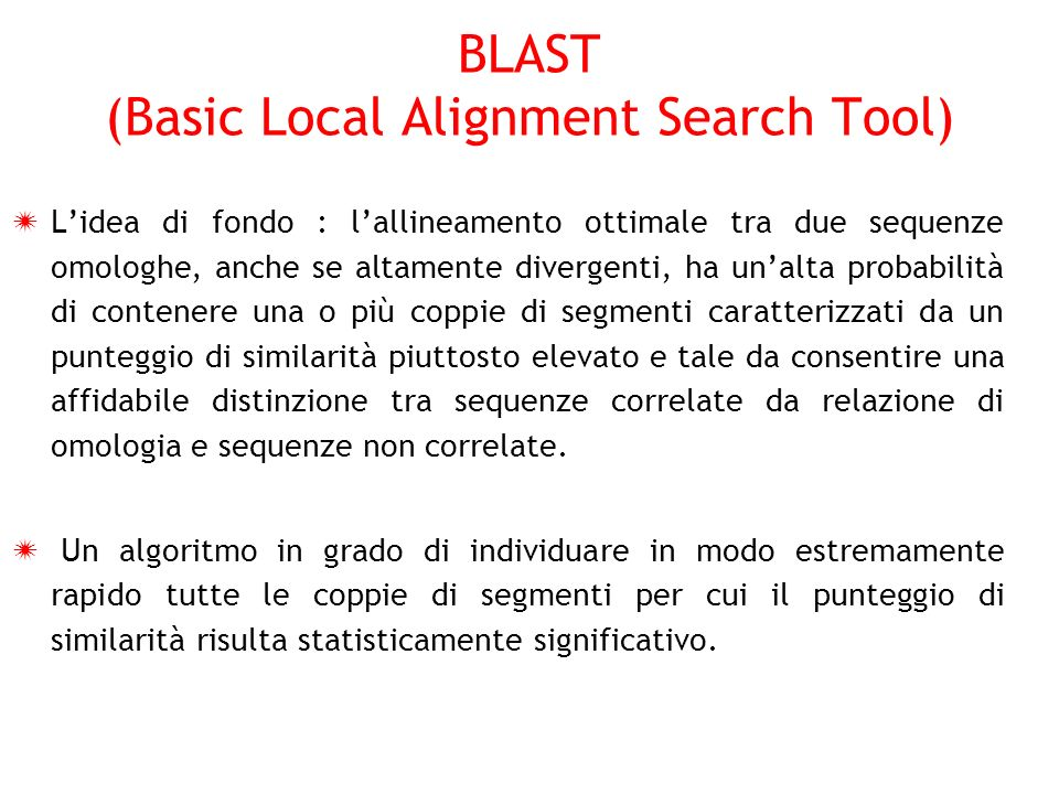 BLAST: Basic Local Alignment Search Tool - Cal Poly