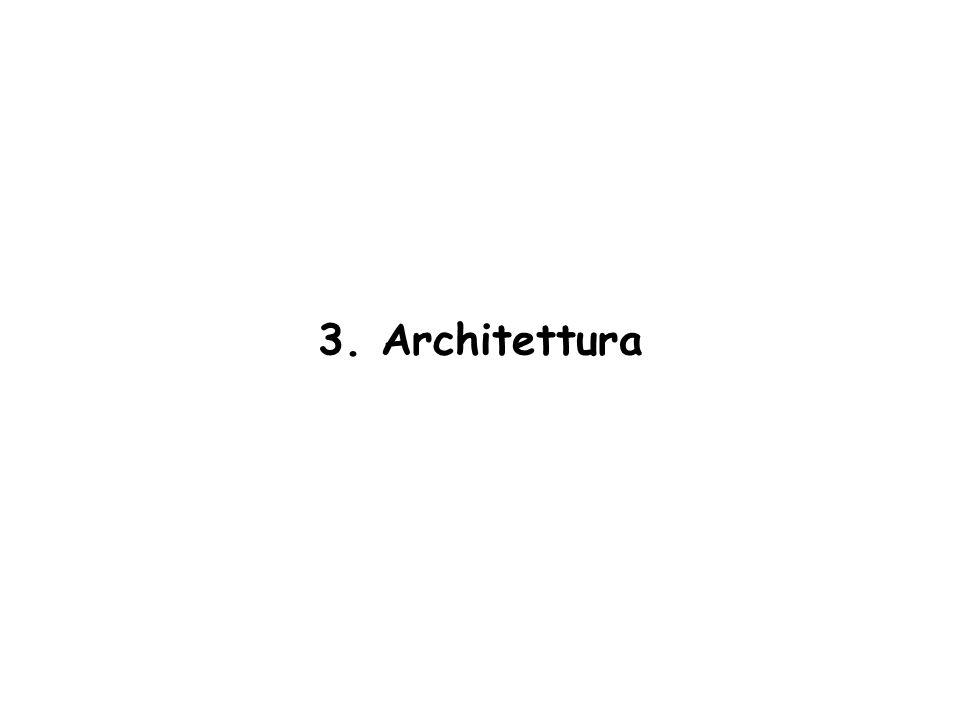 3. Architettura Vengono descritte le principali componenti hardware di un calcolatore.