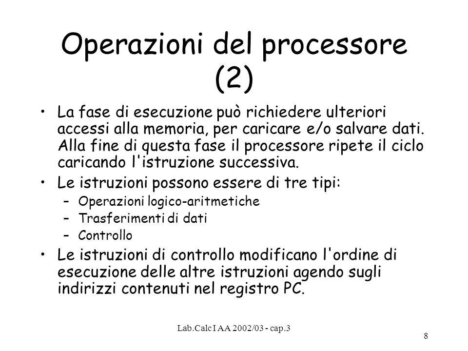Operazioni del processore (2)