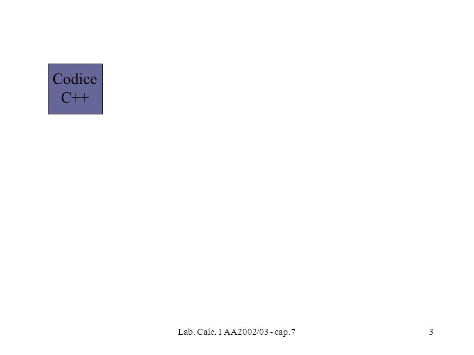 Codice C++ Lab. Calc. I AA2002/03 - cap.7