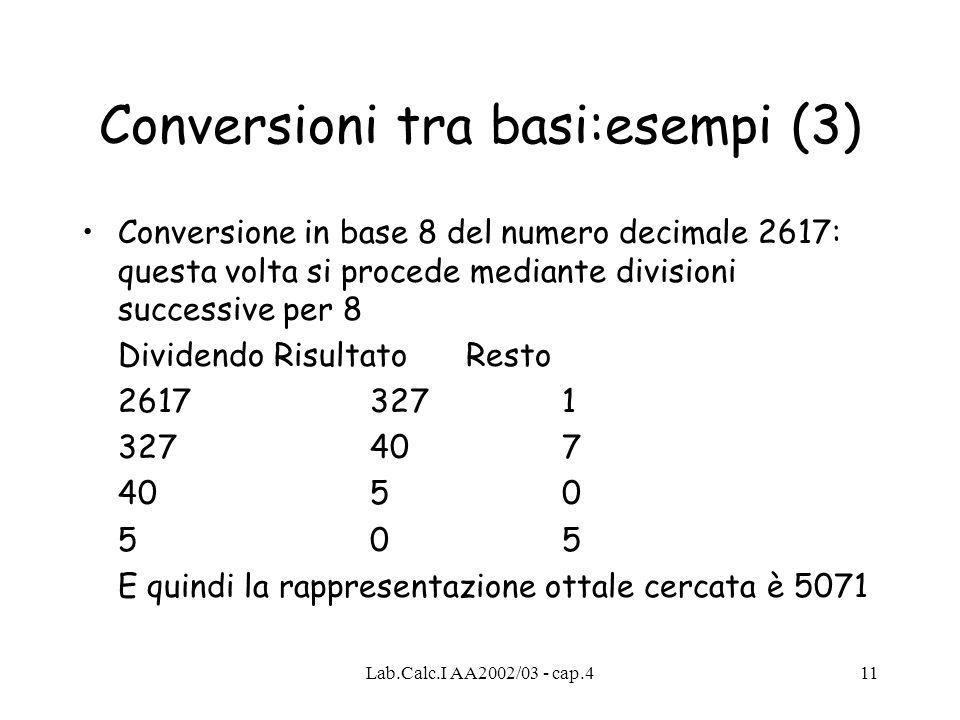 Conversioni tra basi:esempi (3)