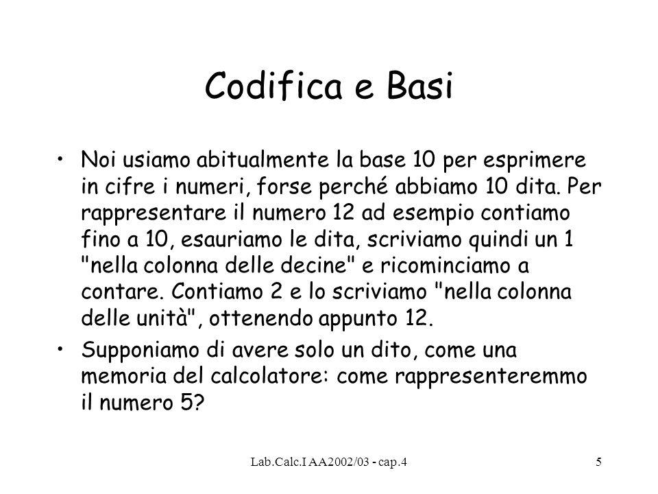 Codifica e Basi
