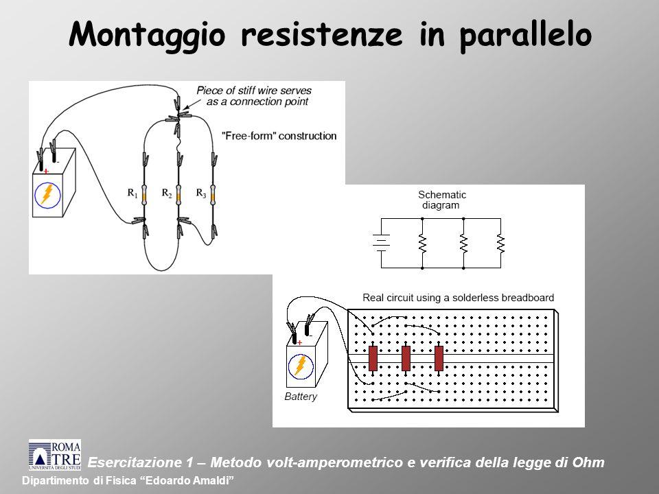 Montaggio resistenze in parallelo
