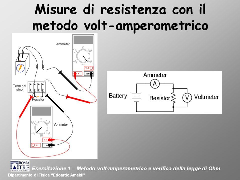 Misure di resistenza con il metodo volt-amperometrico