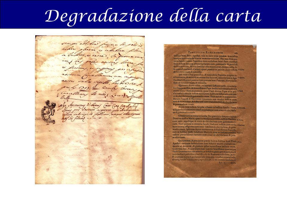 Degradazione della carta