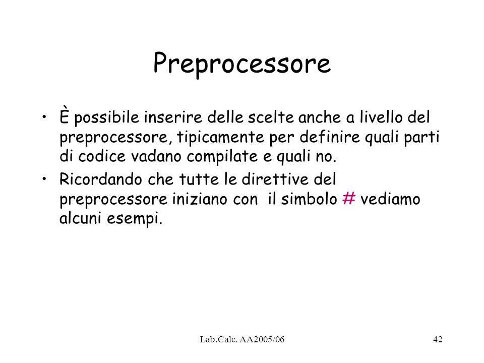 Preprocessore