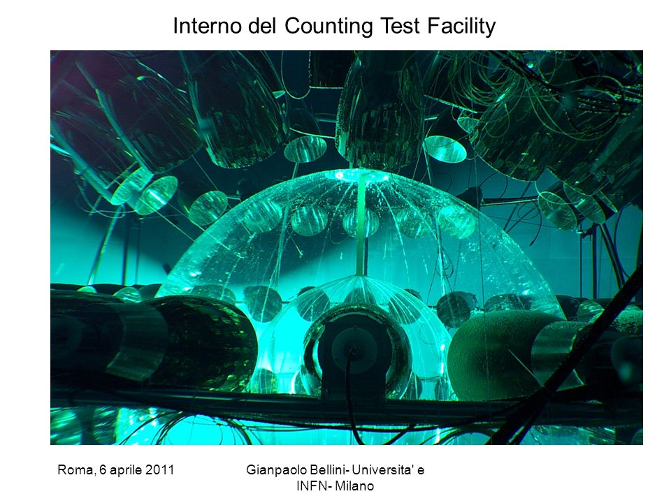 Interno del Counting Test Facility