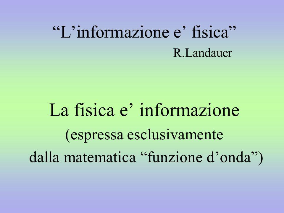La fisica e' informazione