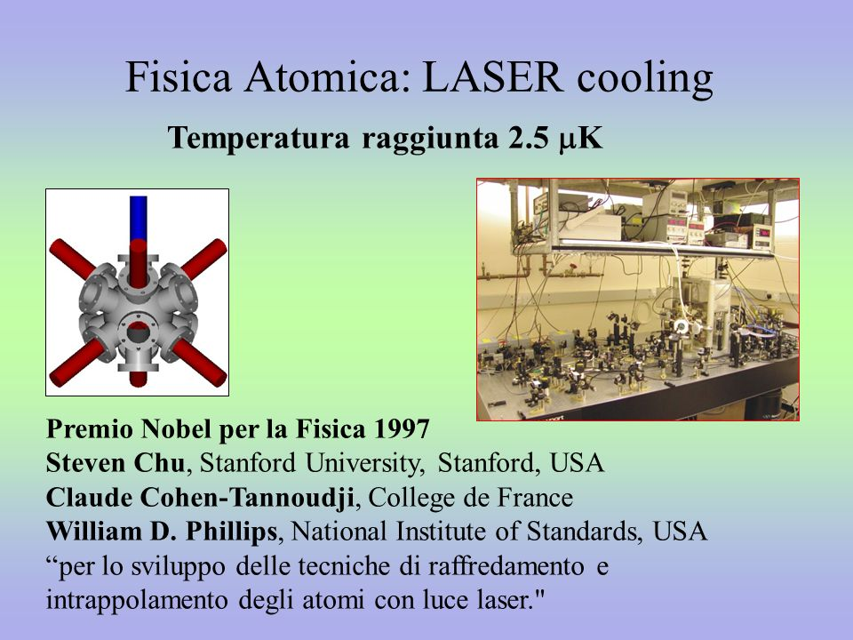 Fisica Atomica: LASER cooling