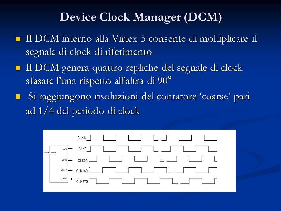 Device Clock Manager (DCM)