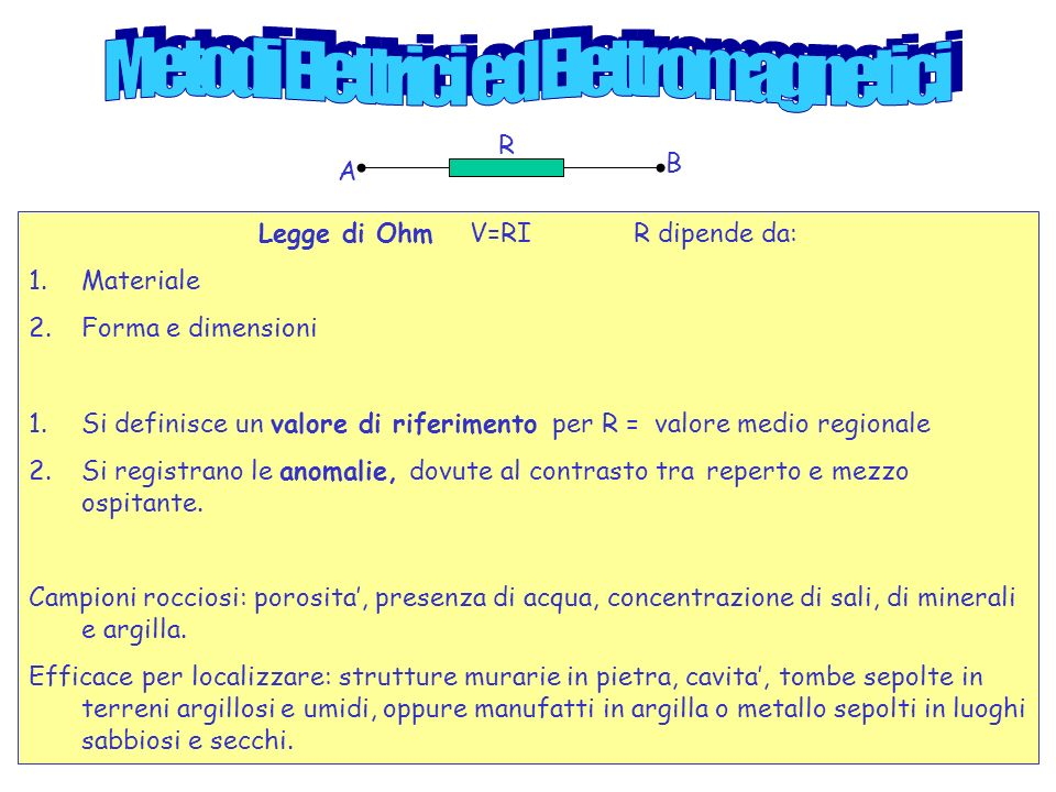 Metodi Elettrici ed Elettromagnetici