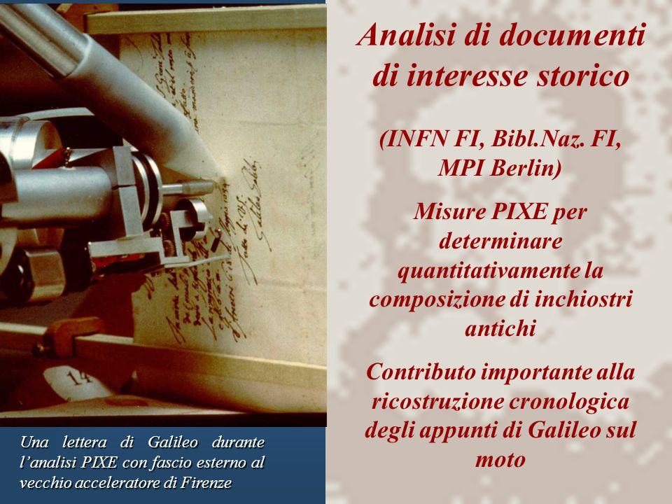Analisi di documenti di interesse storico