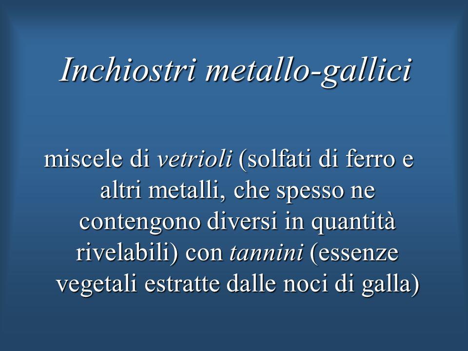 Inchiostri metallo-gallici