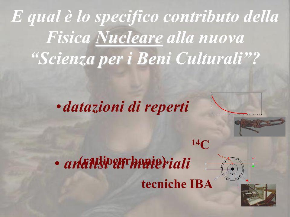 E qual è lo specifico contributo della Fisica Nucleare alla nuova Scienza per i Beni Culturali