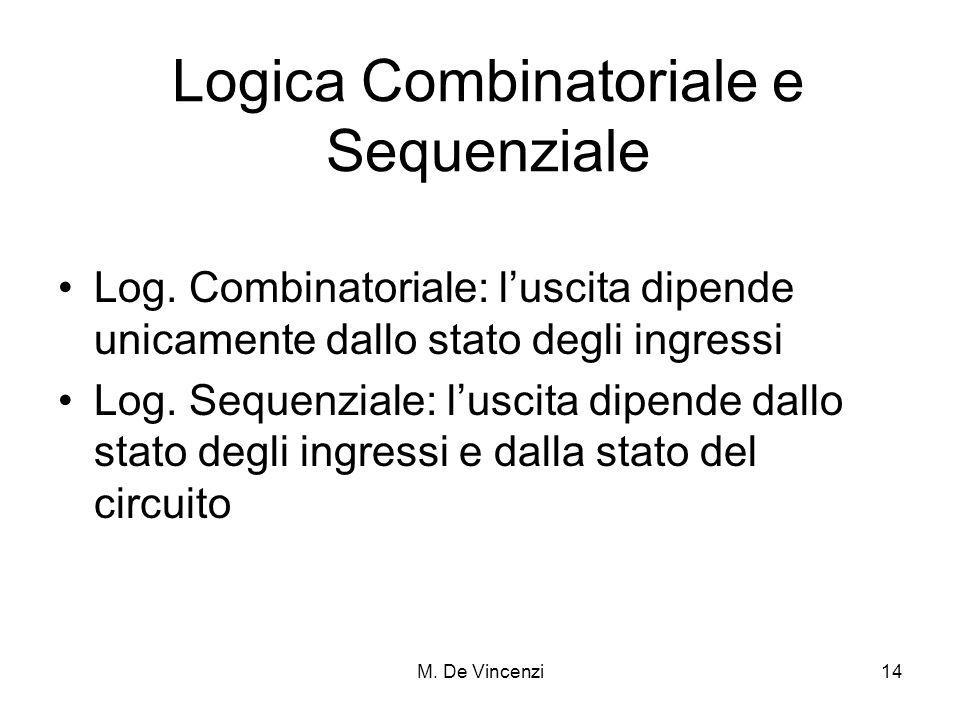 Logica Combinatoriale e Sequenziale