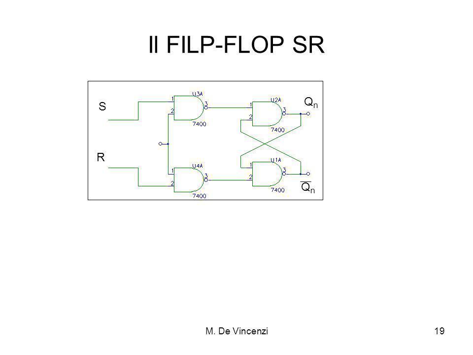 Il FILP-FLOP SR Qn S R Qn M. De Vincenzi