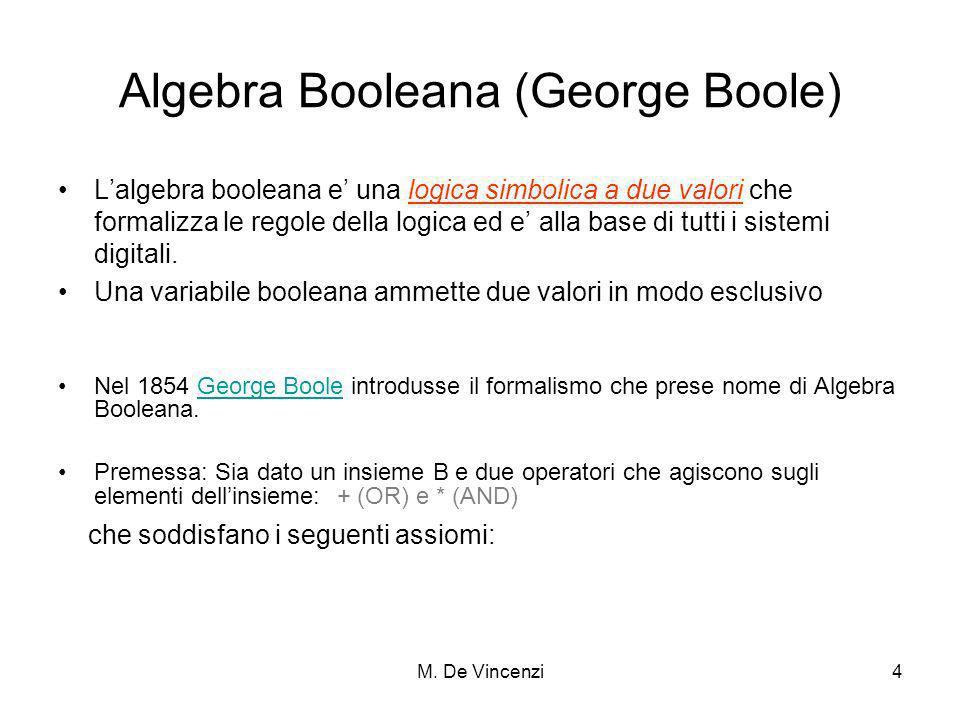 Algebra Booleana (George Boole)