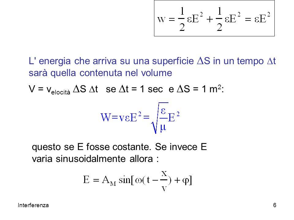 V = velocità DS Dt se Dt = 1 sec e DS = 1 m2:
