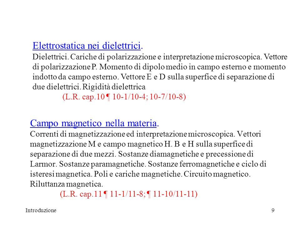 Elettrostatica nei dielettrici. Dielettrici