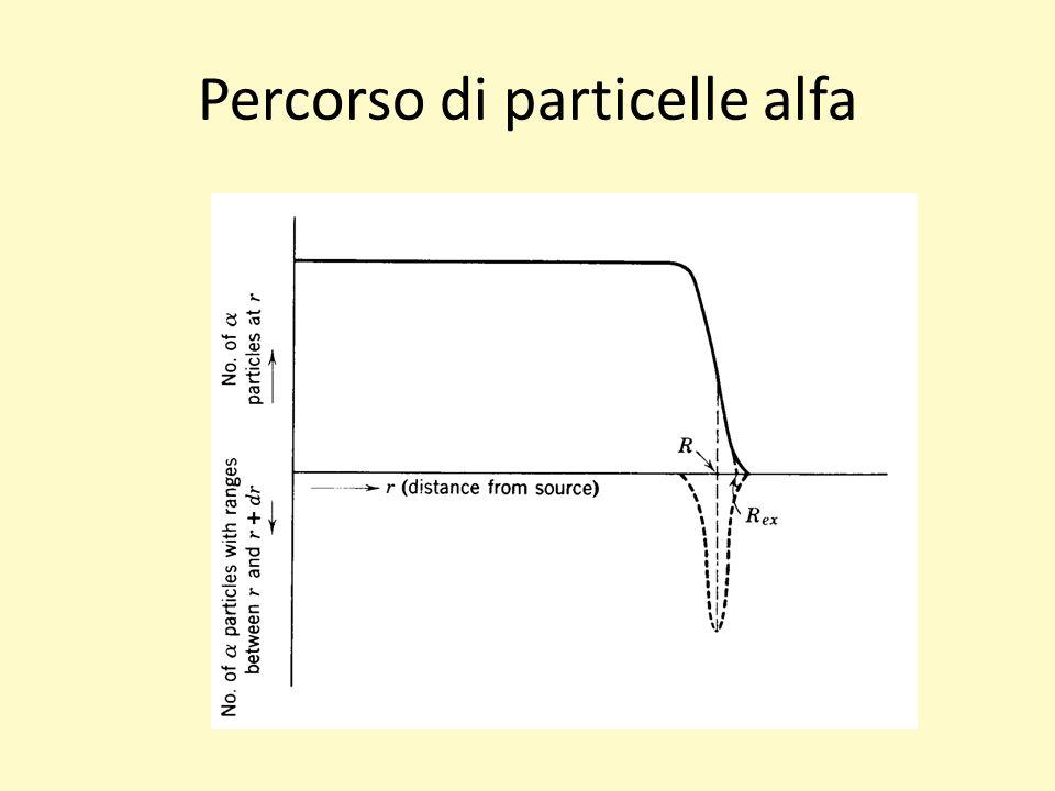 Percorso di particelle alfa
