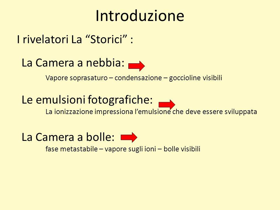 Introduzione I rivelatori La Storici : La Camera a nebbia: