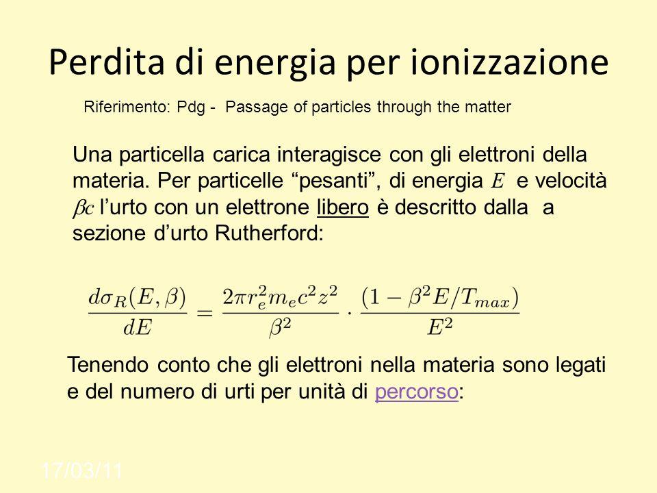 Perdita di energia per ionizzazione