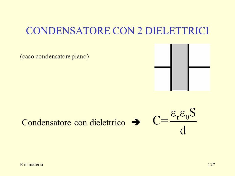 CONDENSATORE CON 2 DIELETTRICI