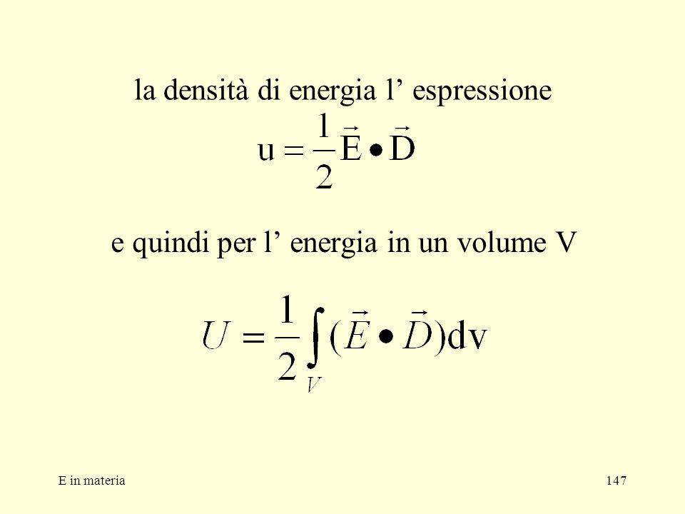 la densità di energia l' espressione