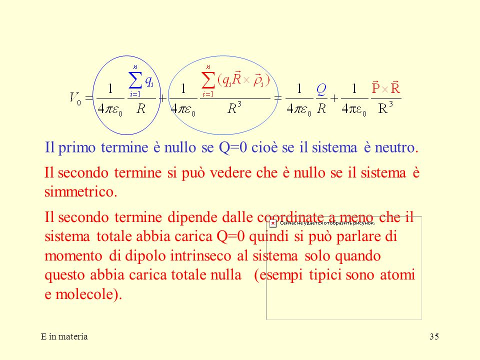 Il primo termine è nullo se Q=0 cioè se il sistema è neutro.