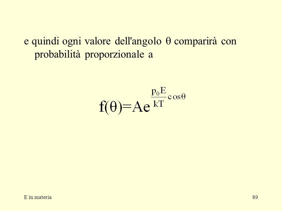 e quindi ogni valore dell angolo q comparirà con probabilità proporzionale a