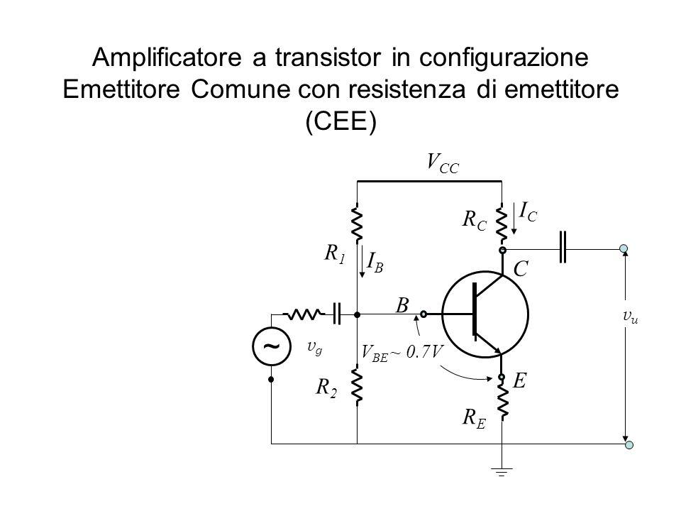 Amplificatore a transistor in configurazione Emettitore Comune con resistenza di emettitore (CEE)