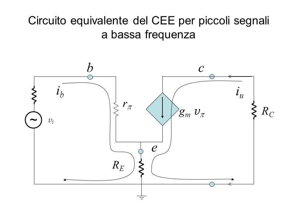 Circuito equivalente del CEE per piccoli segnali a bassa frequenza