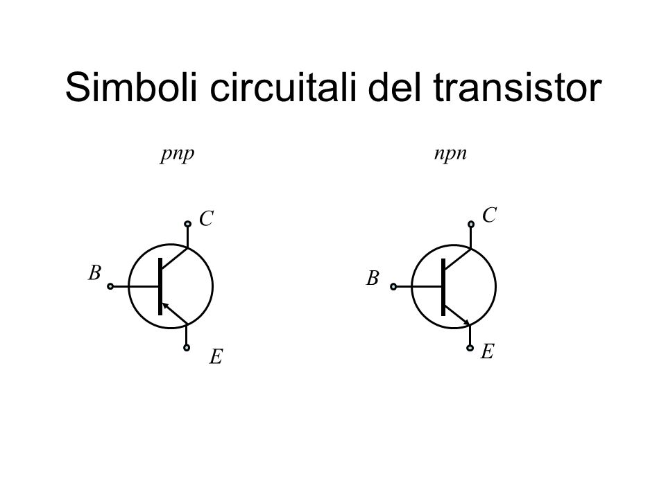 Simboli circuitali del transistor