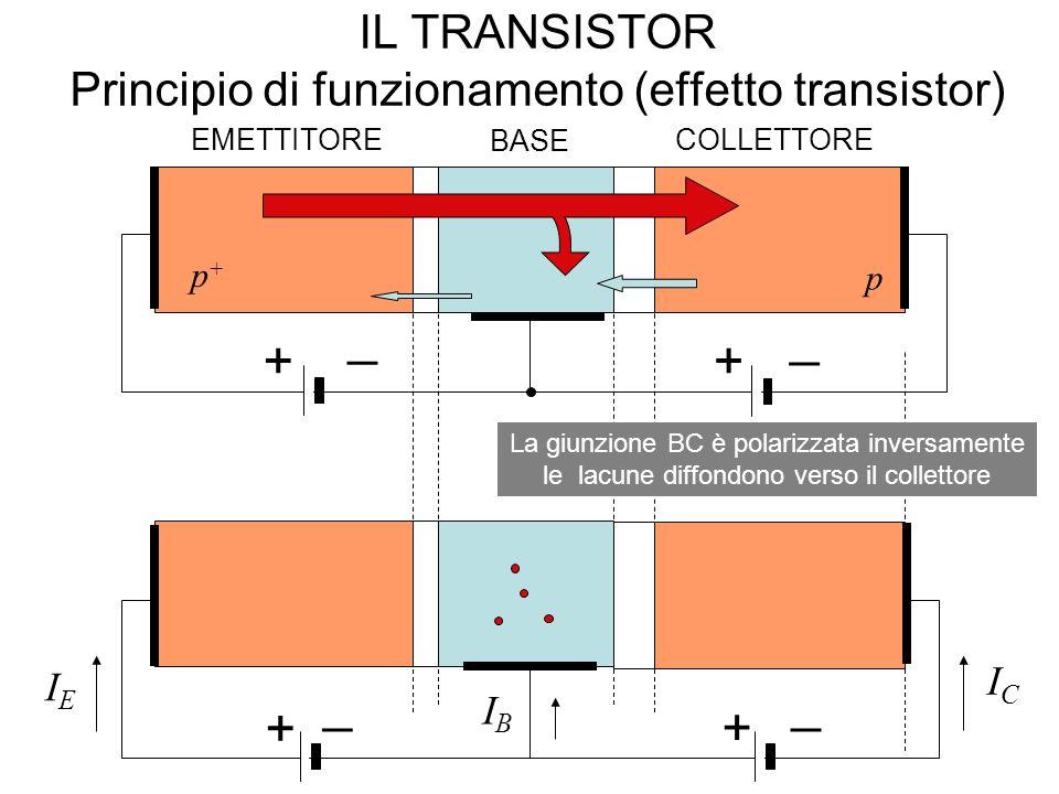 IL TRANSISTOR Principio di funzionamento (effetto transistor)