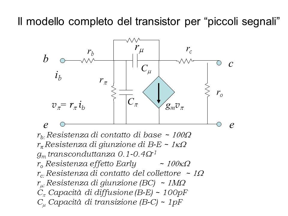Il modello completo del transistor per piccoli segnali