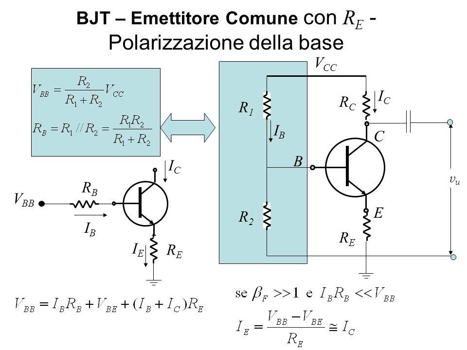 BJT – Emettitore Comune con RE - Polarizzazione della base