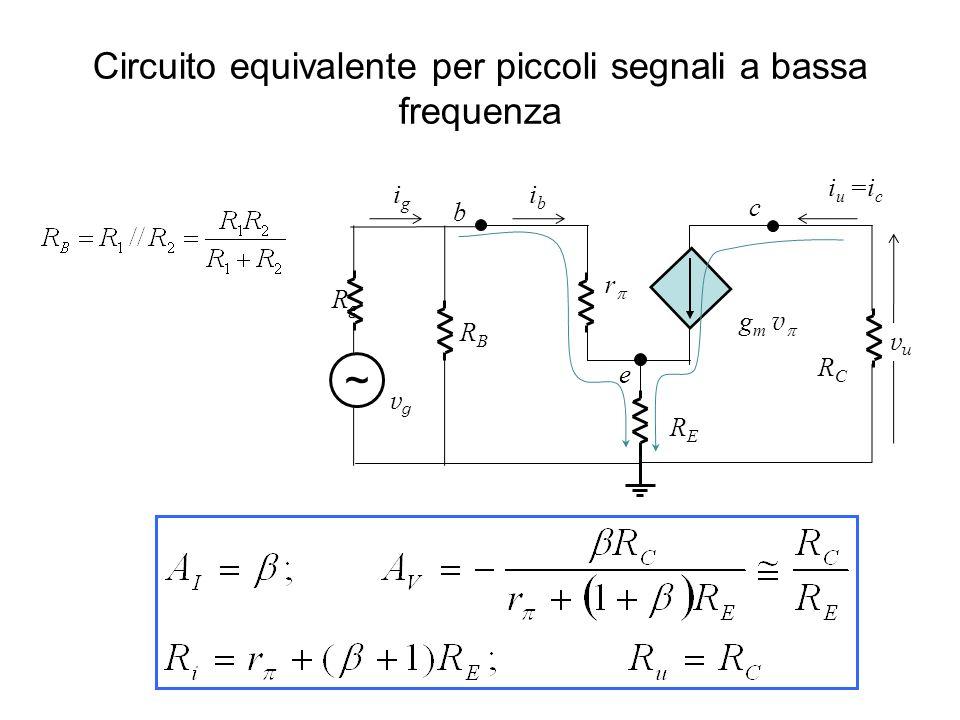 Circuito equivalente per piccoli segnali a bassa frequenza