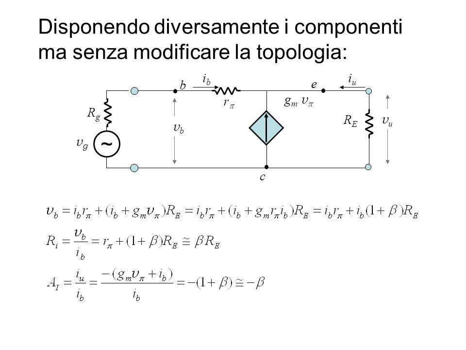 Disponendo diversamente i componenti ma senza modificare la topologia: