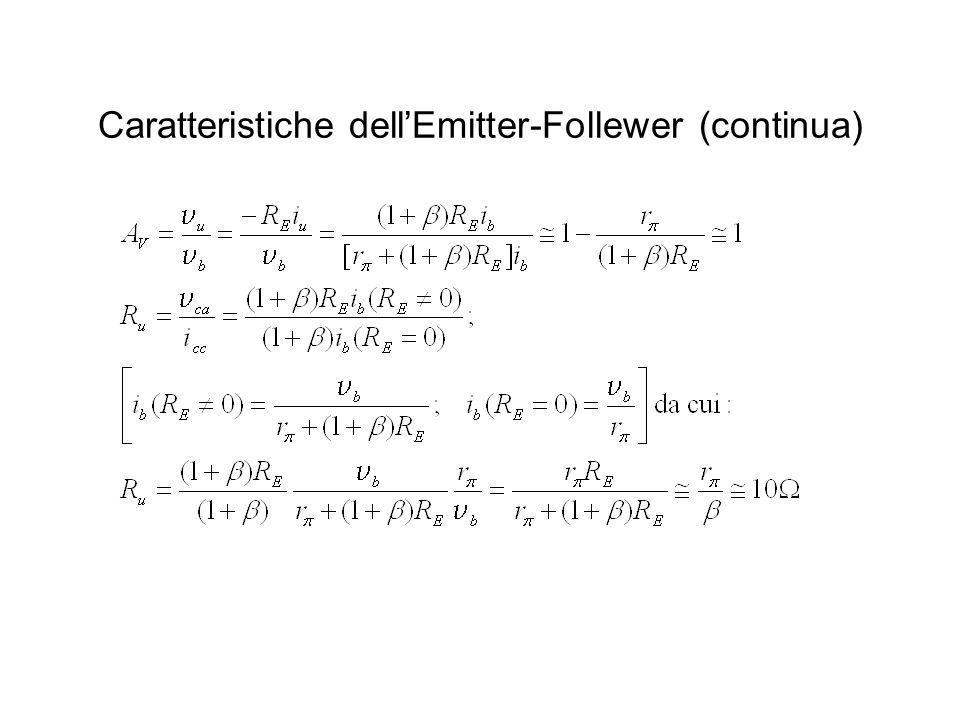 Caratteristiche dell'Emitter-Follewer (continua)