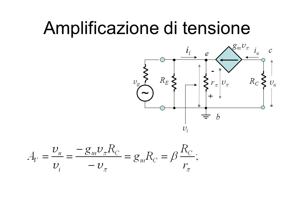 Amplificazione di tensione