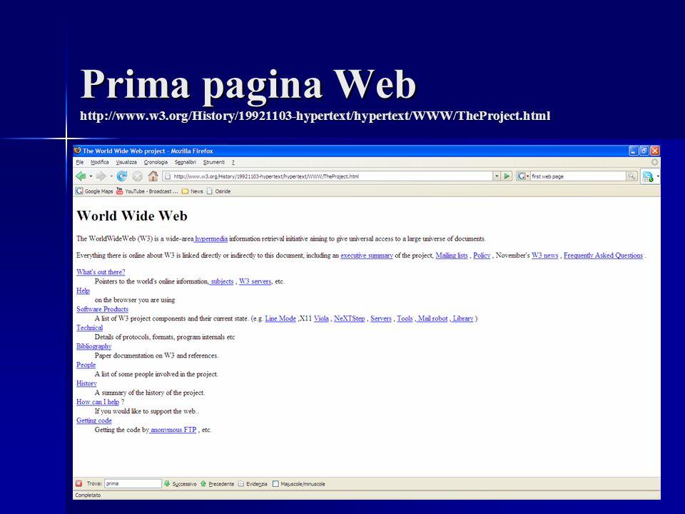 Prima pagina Web http://www. w3