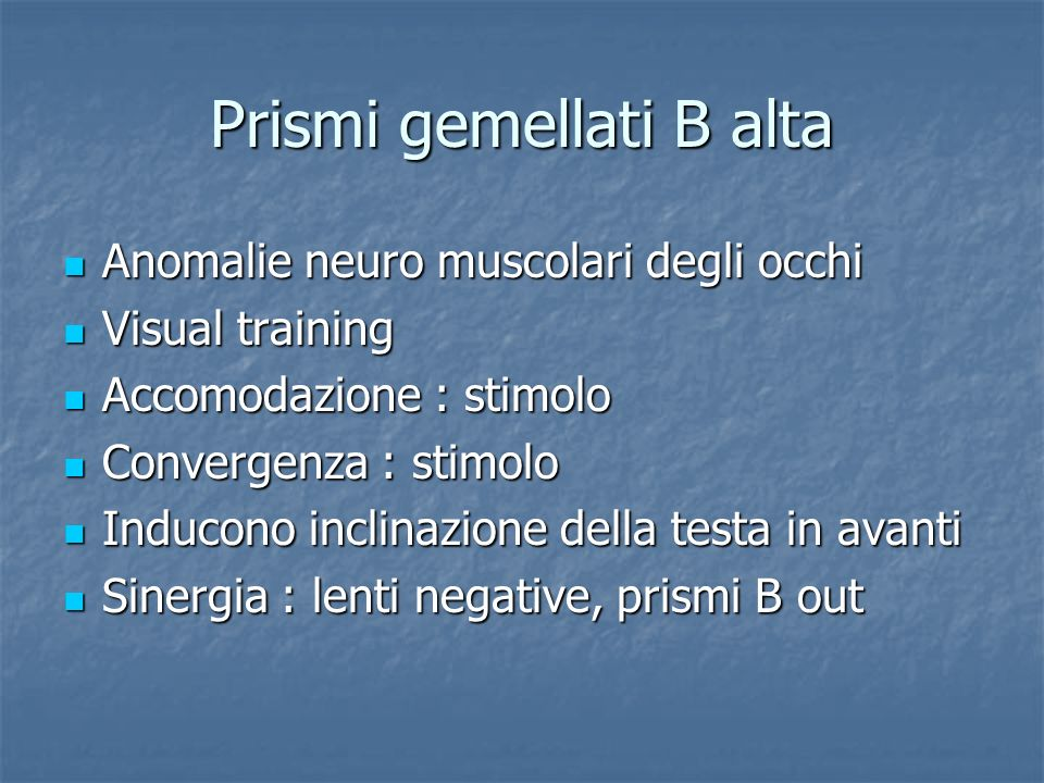 Prismi gemellati B alta