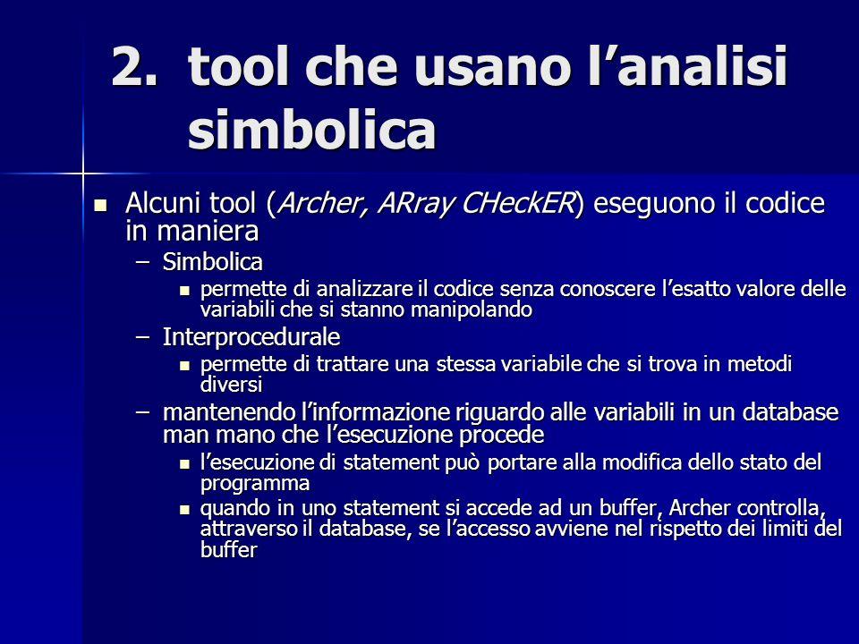tool che usano l'analisi simbolica